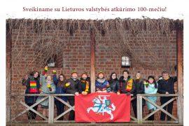 Sveikiname su Lietuvos valstybės atkūrimo 100-mečiu!