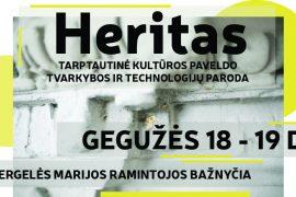 Paroda HERITAS: dvi dienos, skirtos pažinti kultūros paveldą ir jį puoselėjančius žmones