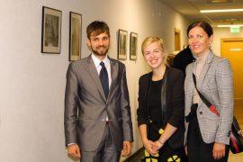 """Fotografijų paroda """"Senas ir naujas Vilnius"""" atidaryta Aplinkos ministerijoje"""