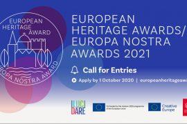Valstybinė kultūros paveldo komisija ragina teikti paraiškas prestižiniams 2021 m. Europa Nostra apdovanojimams